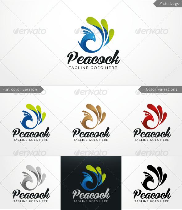 GraphicRiver Peacock Logo Template 3866436