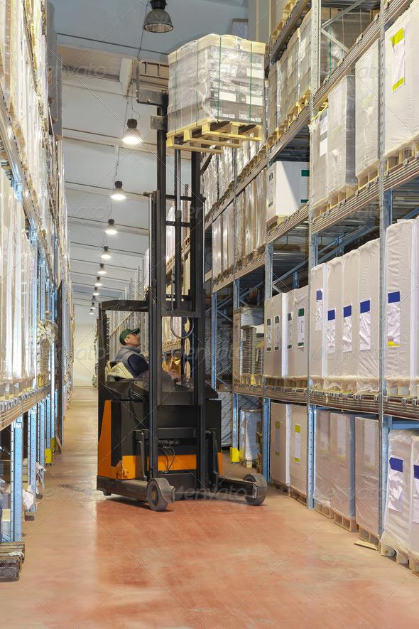 Forklift loading - Stock Photo - Images