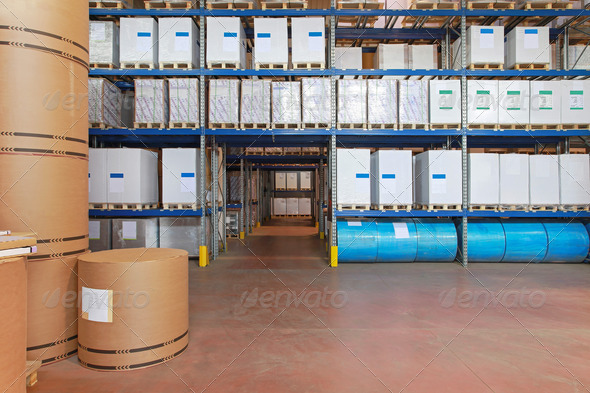 Paper warehouse - Stock Photo - Images