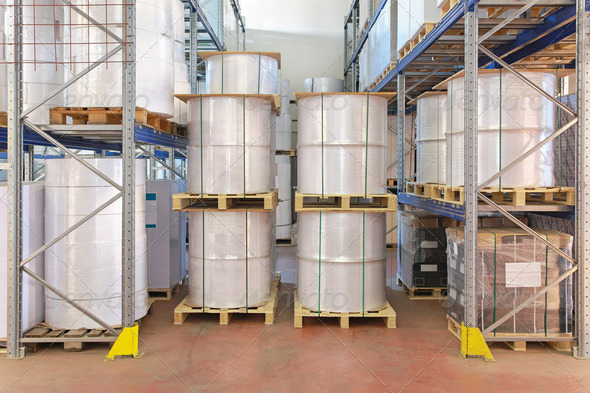 Warehouse shelves - Stock Photo - Images