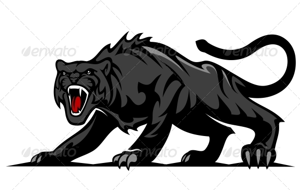 Danger Black Panther - Animals Characters