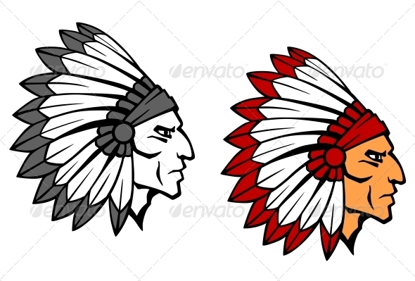 GraphicRiver Brave Indian Warrior Mascot 3959445