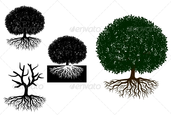 GraphicRiver Big Tree with Roots 3959448