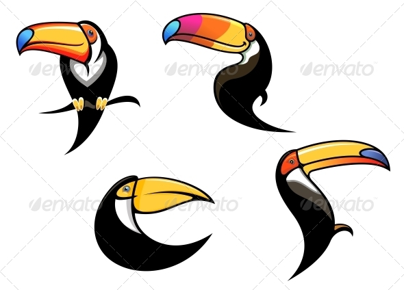 Funny Toucan Mascots and Symbols - Animals Characters