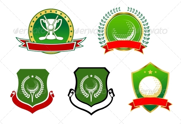 GraphicRiver Golf Sport Icons Emblems and Signs 3959719