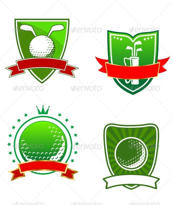 Golf Emblems and Symbols - Sports/Activity Conceptual