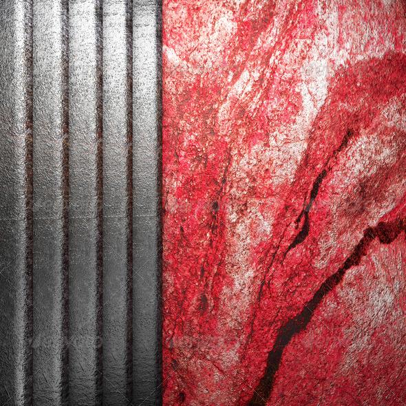 PhotoDune metal on wall 3960059