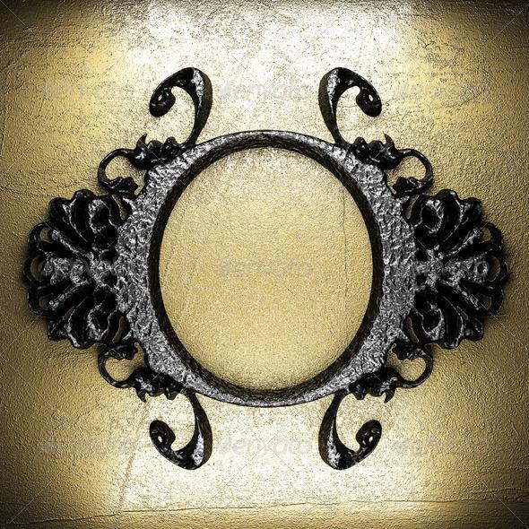 PhotoDune vintage iron frame 3960077