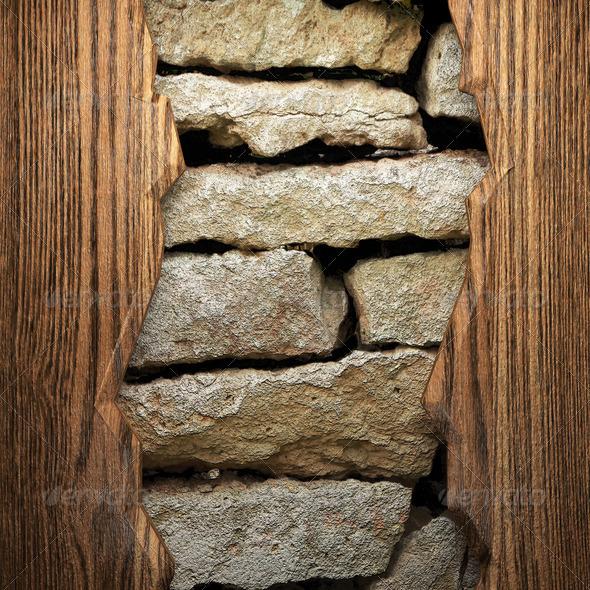 PhotoDune wood on wall 3960125
