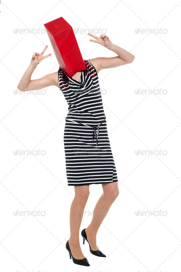PhotoDune Woman with shopping bag as her face 3960191