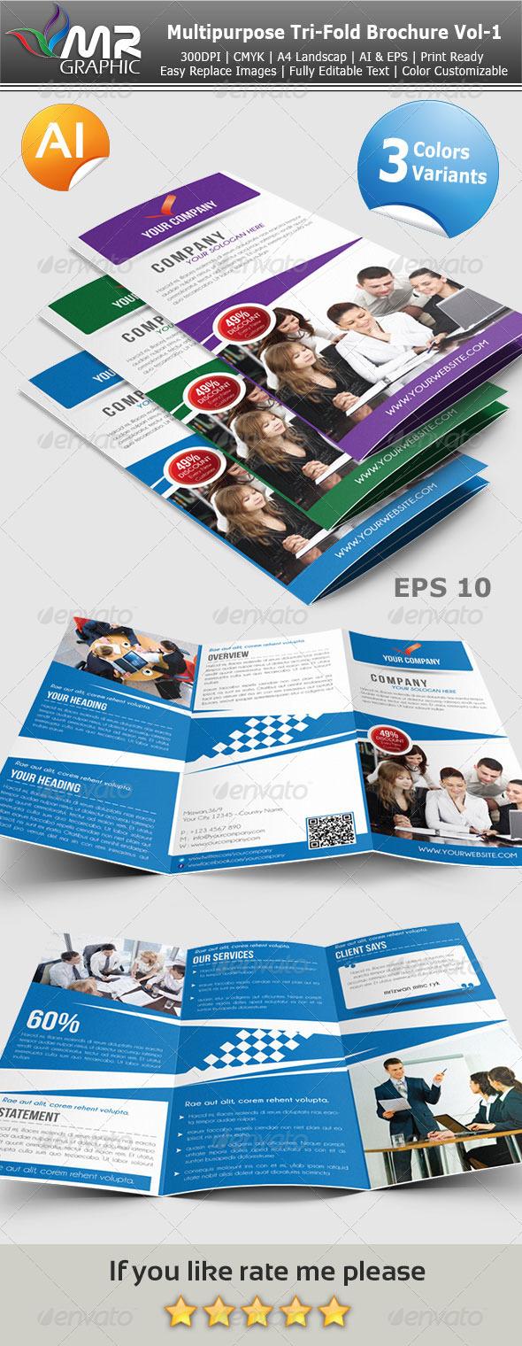 GraphicRiver Multipurpose Tri-Fold Brochure Vol-1 3817741