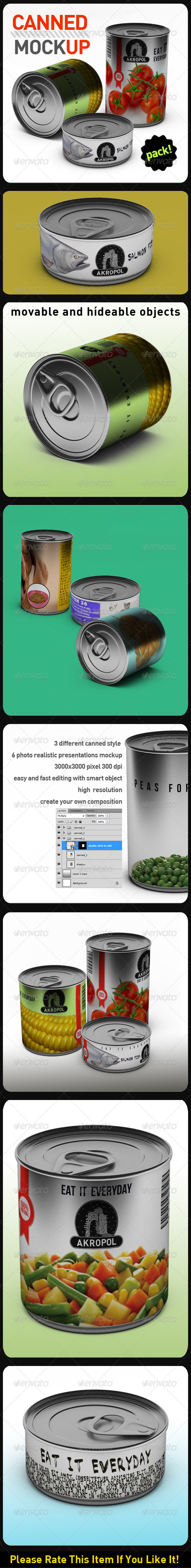 Canned Mock Up - Food and Drink Packaging