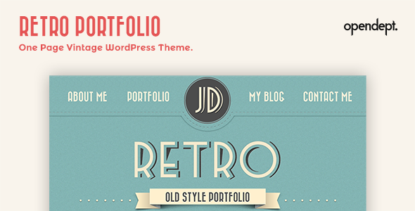 Retro Portfolio - One Page Vintage Wordpress Theme - Personal Blog / Magazine