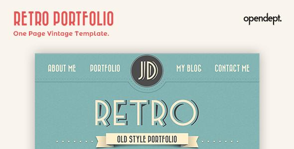 Retro Portfolio - One Page Vintage Template