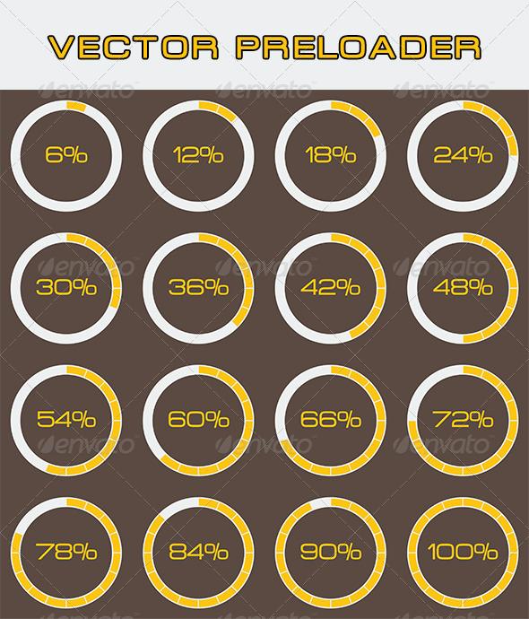 GraphicRiver Vector Preloader 3877578