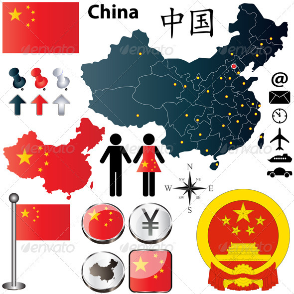 GraphicRiver China Map 3962057