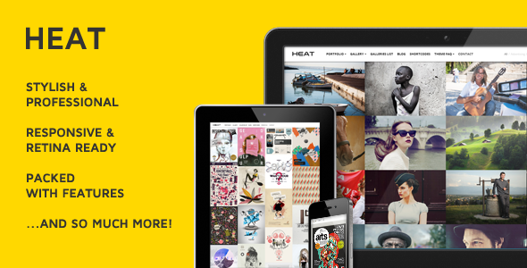 ThemeForest Heat Premium Portfolio WordPress Theme 3700508