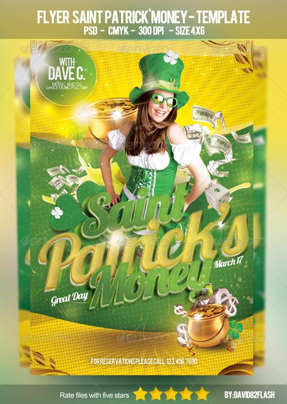 GraphicRiver Flyer Saint Patrick s Money Template 3874881