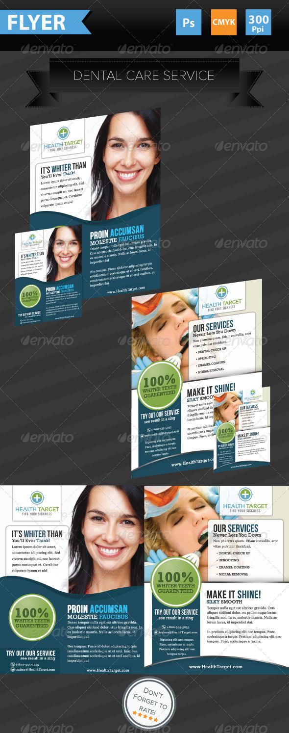 GraphicRiver Medical Dental Flyer 3869465