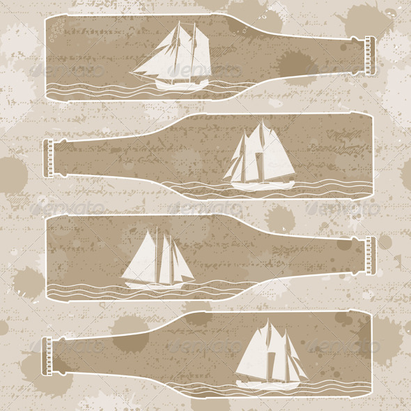 GraphicRiver Ships In Bottles 3962425