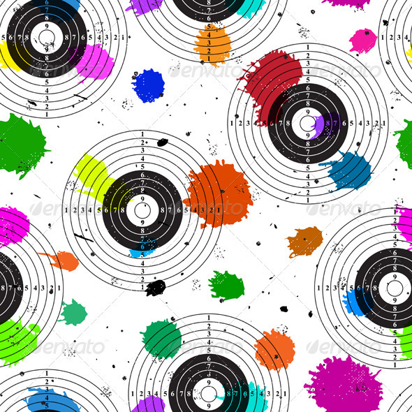 GraphicRiver Target Over Colorful Grange Blot 3962427