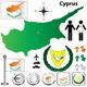 Download Vector Cyprus Map