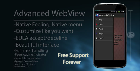 CodeCanyon Advanced Android WebView with Native Menu 3950599