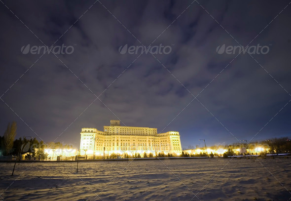 Palace of the Parliament in Bucharest - Stock Photo - Images