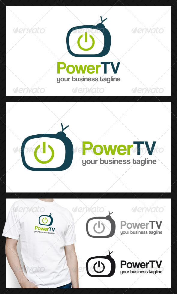 Power Tv Logo Template
