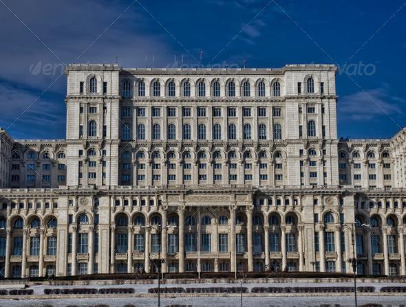 Parliament palace, Romania - Stock Photo - Images