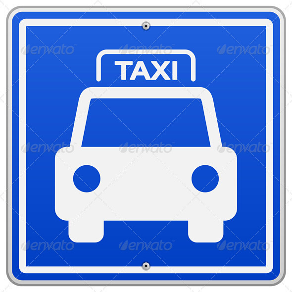 GraphicRiver Taxi Blue Sign 3964092