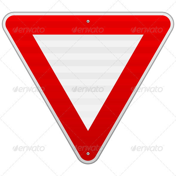 GraphicRiver Yield Triangle Sign 3964270
