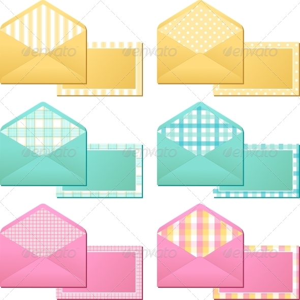 GraphicRiver Collection of Old Vintage Envelopes 3964406