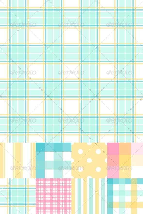 GraphicRiver Set of 8 Seamless Abstract Retro Pattern 3964434