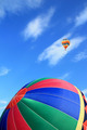 Colorful hot air balloon with beautiful sky