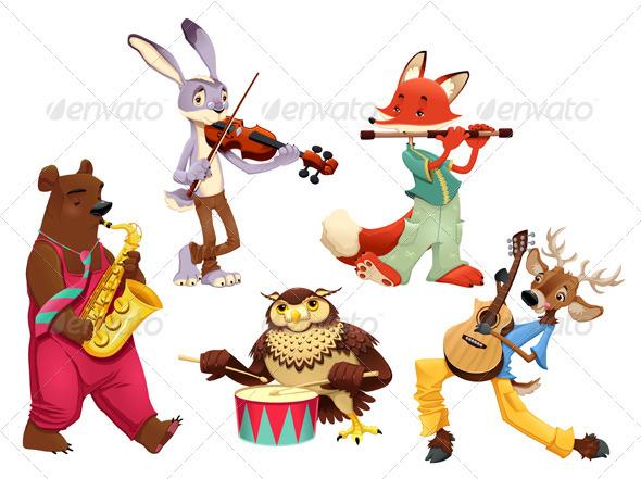 GraphicRiver Musician Animals 3964886