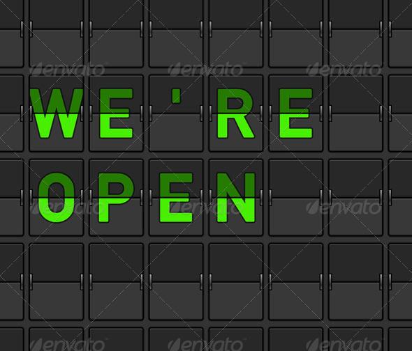 GraphicRiver We Are Open Flip Board 3965409
