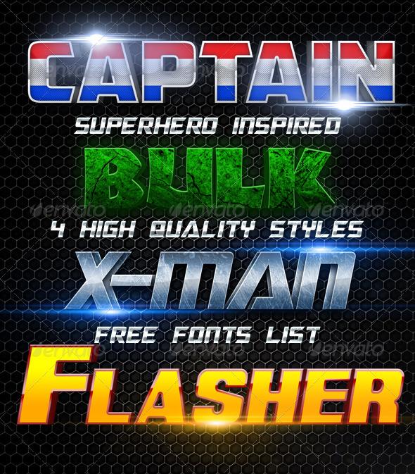 GraphicRiver Superhero Styles 3965470