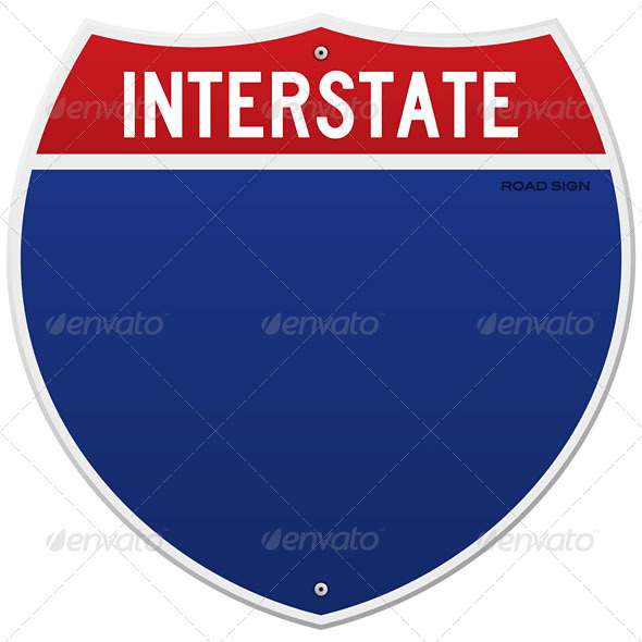 GraphicRiver Isolated Interstate Sign 3965795