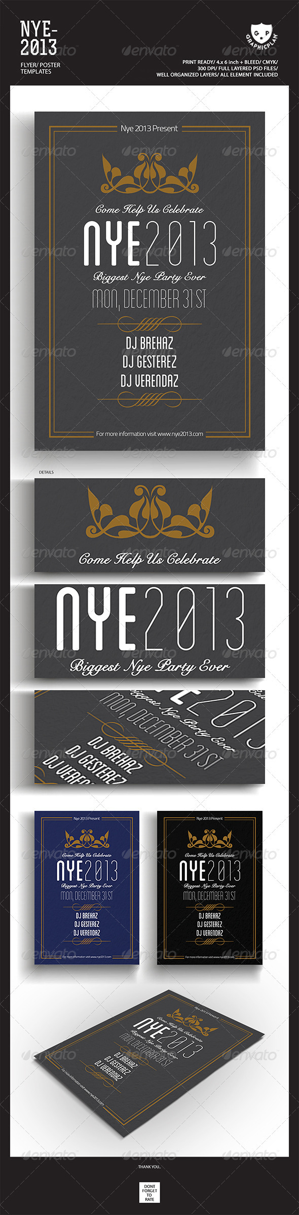 Happy New Year 2013 Simple Flyer - Events Flyers