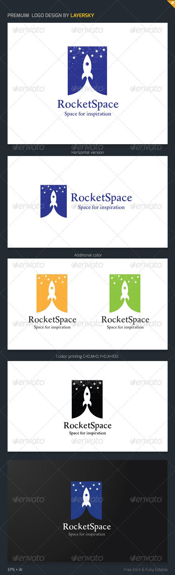 GraphicRiver Rocket Space Logo 3966233