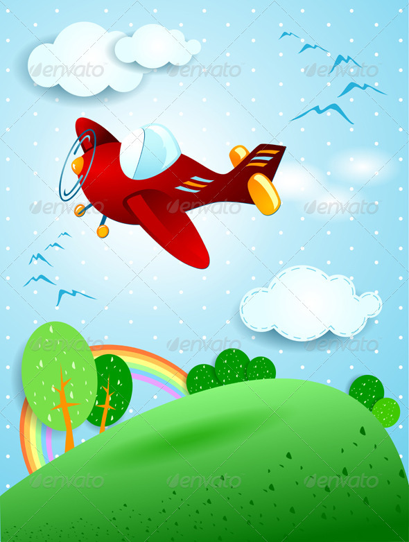 GraphicRiver Red Plane 3966332