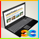 Laptop Business Card - GraphicRiver Item for Sale