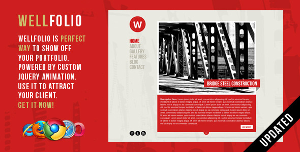 ThemeForest Wellfolio Perfect Minimalist Portfolio Template 400076