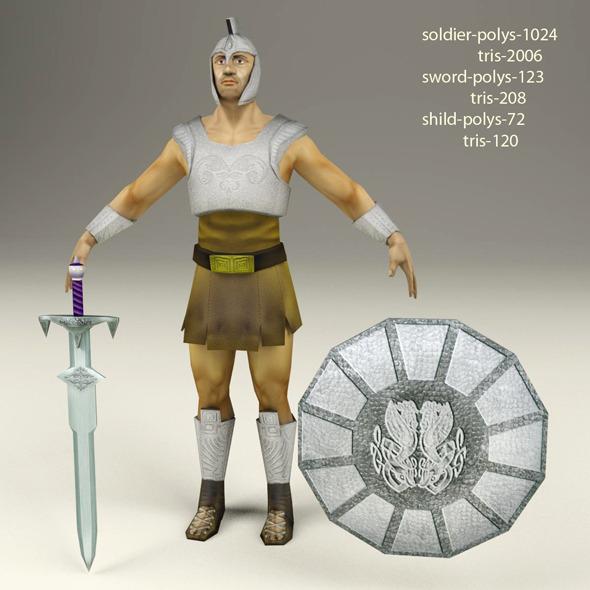 Roman soldier - 3DOcean Item for Sale