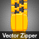 Vector Zipper - Open and Closed