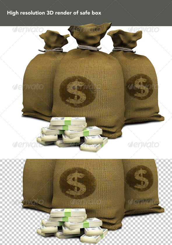 Sacks of Money - Objects 3D Renders