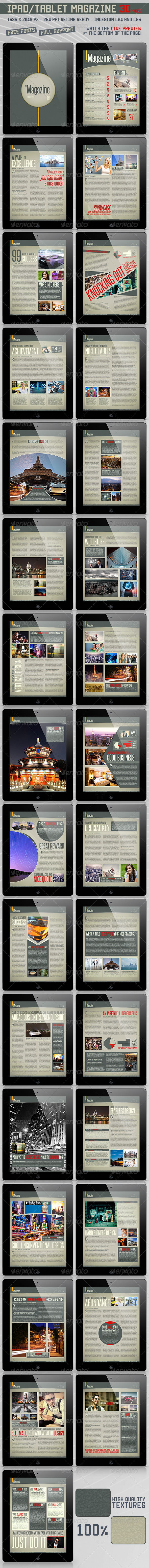 GraphicRiver Pad Tablet Retina Magazine 30 Pages 3967699