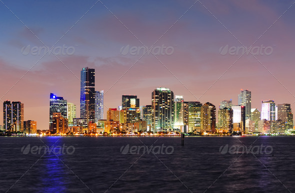 PhotoDune Miami night scene 3969973