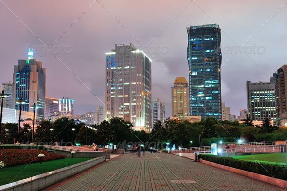 PhotoDune Shanghai at night 3969978